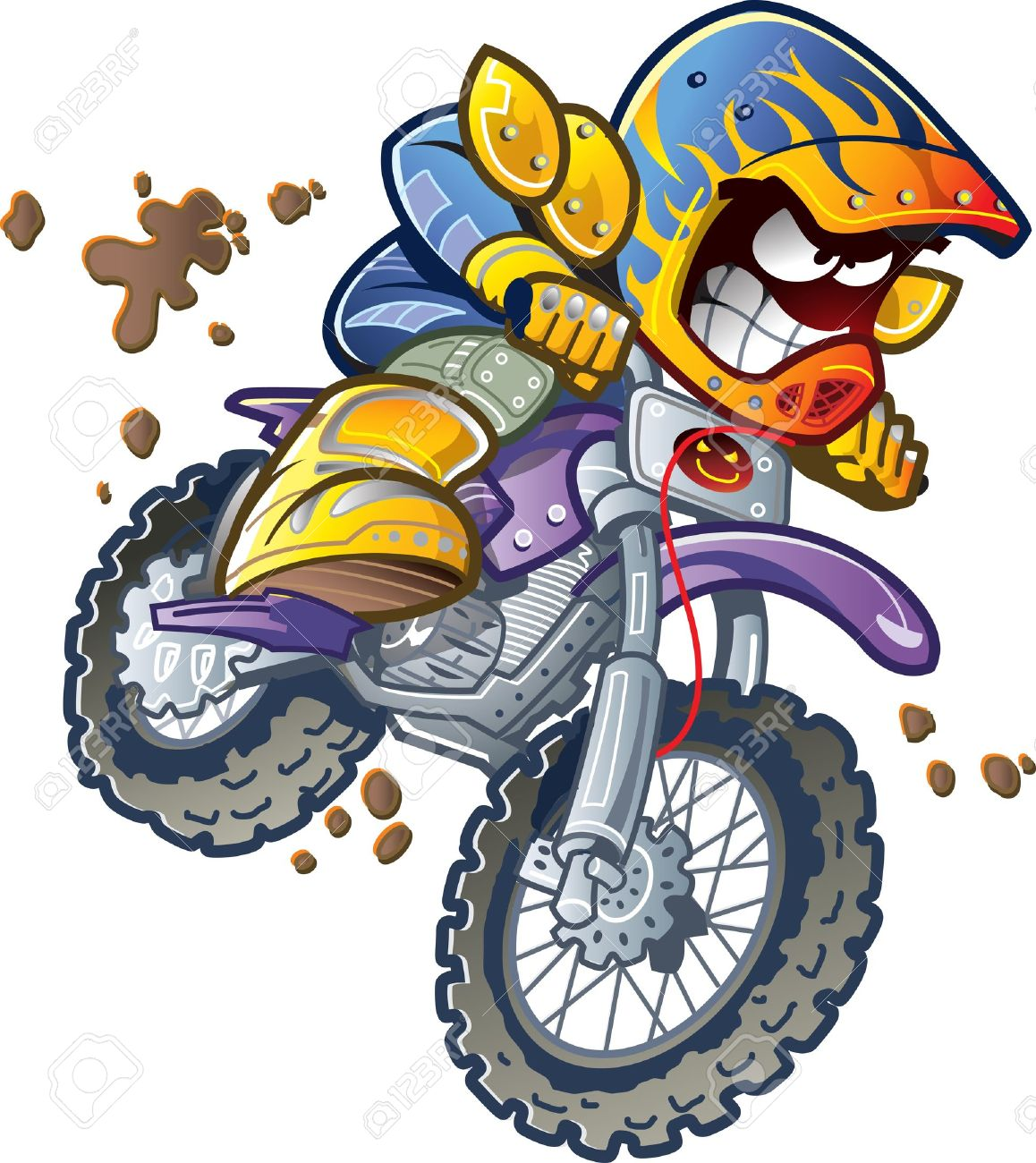 6,583 Motocross Stock Vector Illustration And Royalty Free.