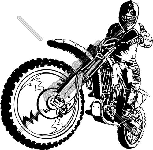 Motocross whip clipart.