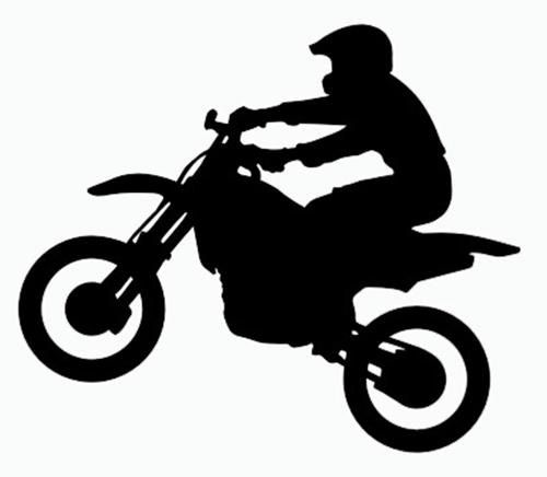 Motocross bikes clipart.