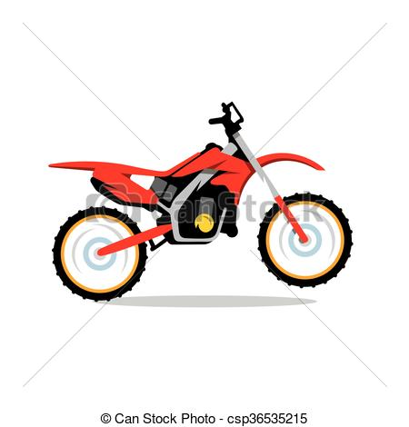 Vector Motocross Bike Cartoon Illustration..
