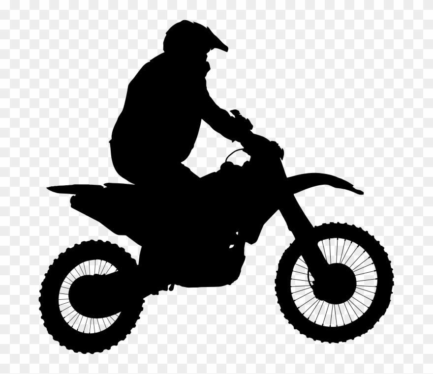 Clipart Motocross Silhouette Diamond Transparent Clip.