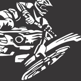 Motocross cliparts.