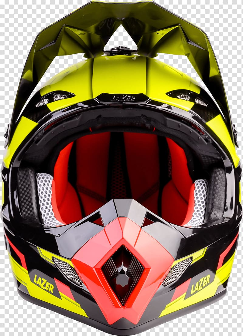 Yellow and black motocross helmet, Motorcycle Helmet Lazer.