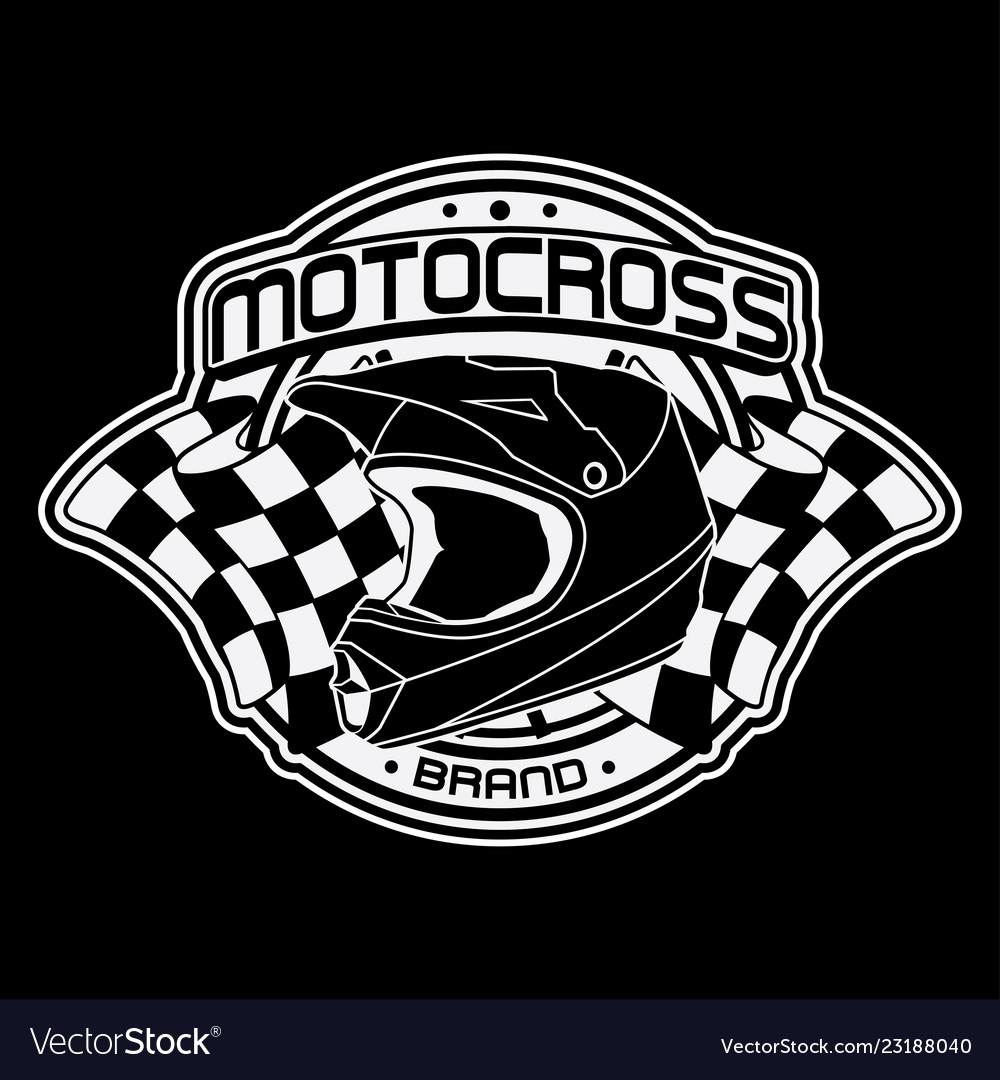 Design helmets motocross logo.