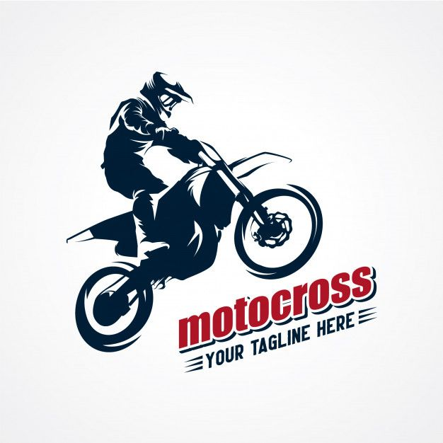 Extreme motocross logo vector premium vector Premium Vector.