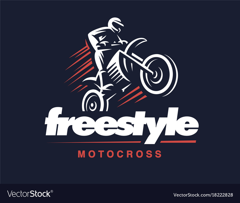 Motorcycle logo motocross freestyle.