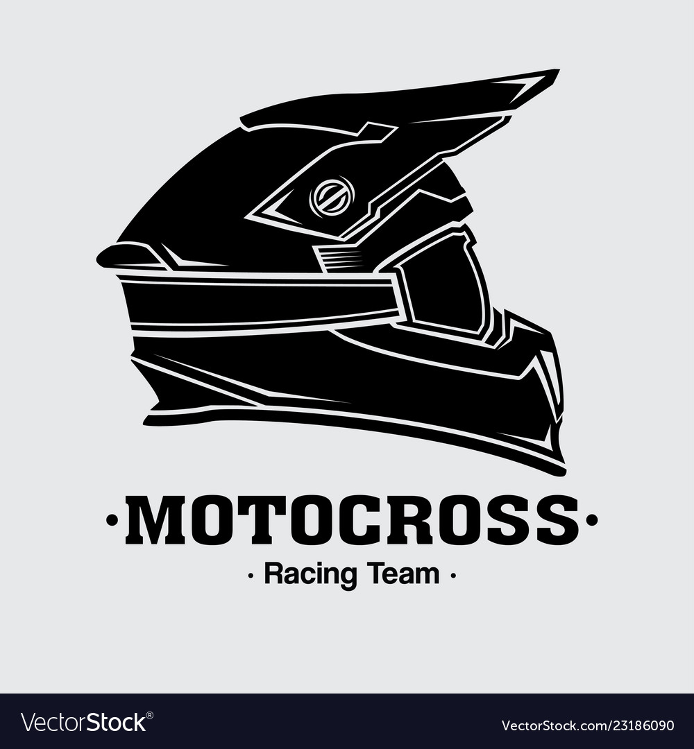 Design logo helmets motocross.