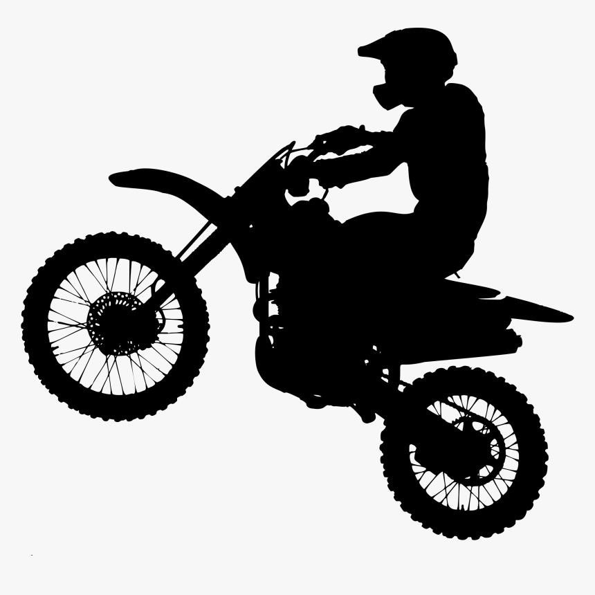 Motorcycle Silhouette Bicycle Motocross Clip Art.