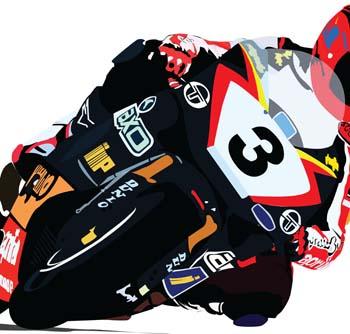 Motogp Racing Clip Art, Vector Motogp Racing.