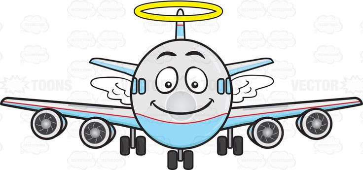 Smiling Jumbo Jet Plane With Halo And Wings Emoji.