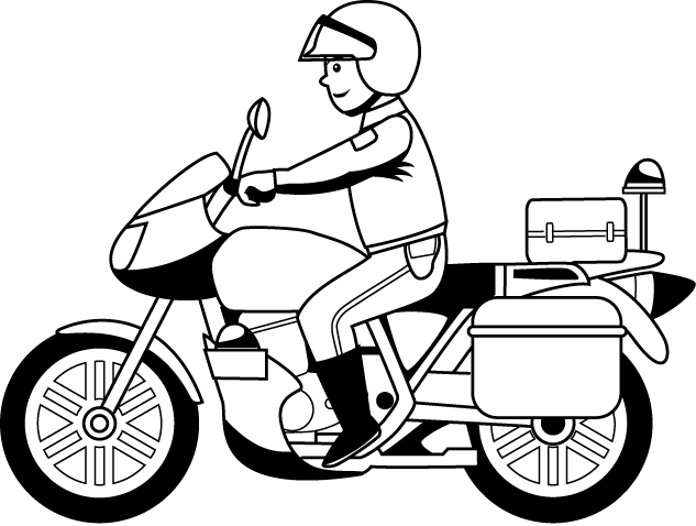 Motorcycle black and white police motorcycle clipart letters.