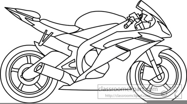 Motorbike Clipart Black And White.