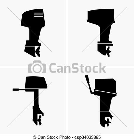 Outboard motor Clipart and Stock Illustrations. 83 Outboard motor.