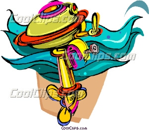 boat motor, outboard engine Clip Art.