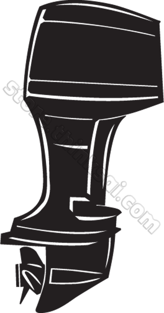 Outboard Motor Clipart.