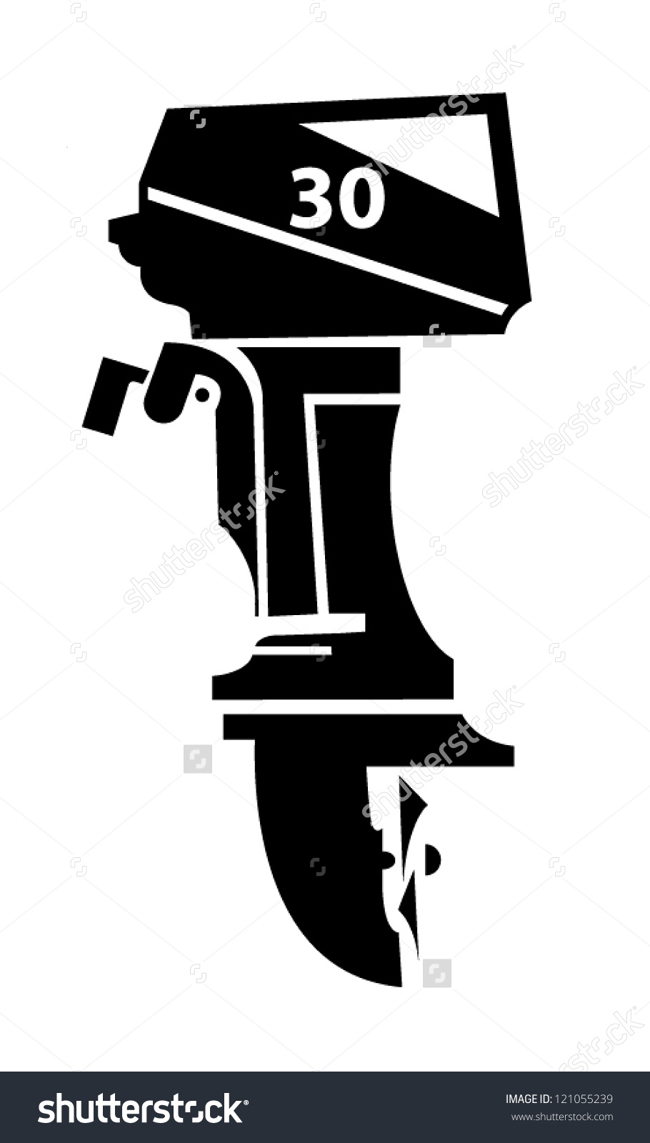 Outboard Boat Motor Vector Illustration Stock Vector 121055239.