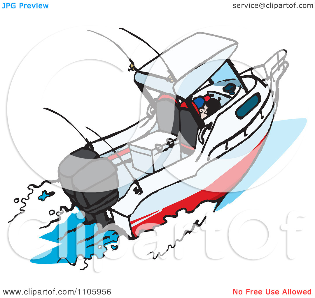 Clipart Motor Boat.
