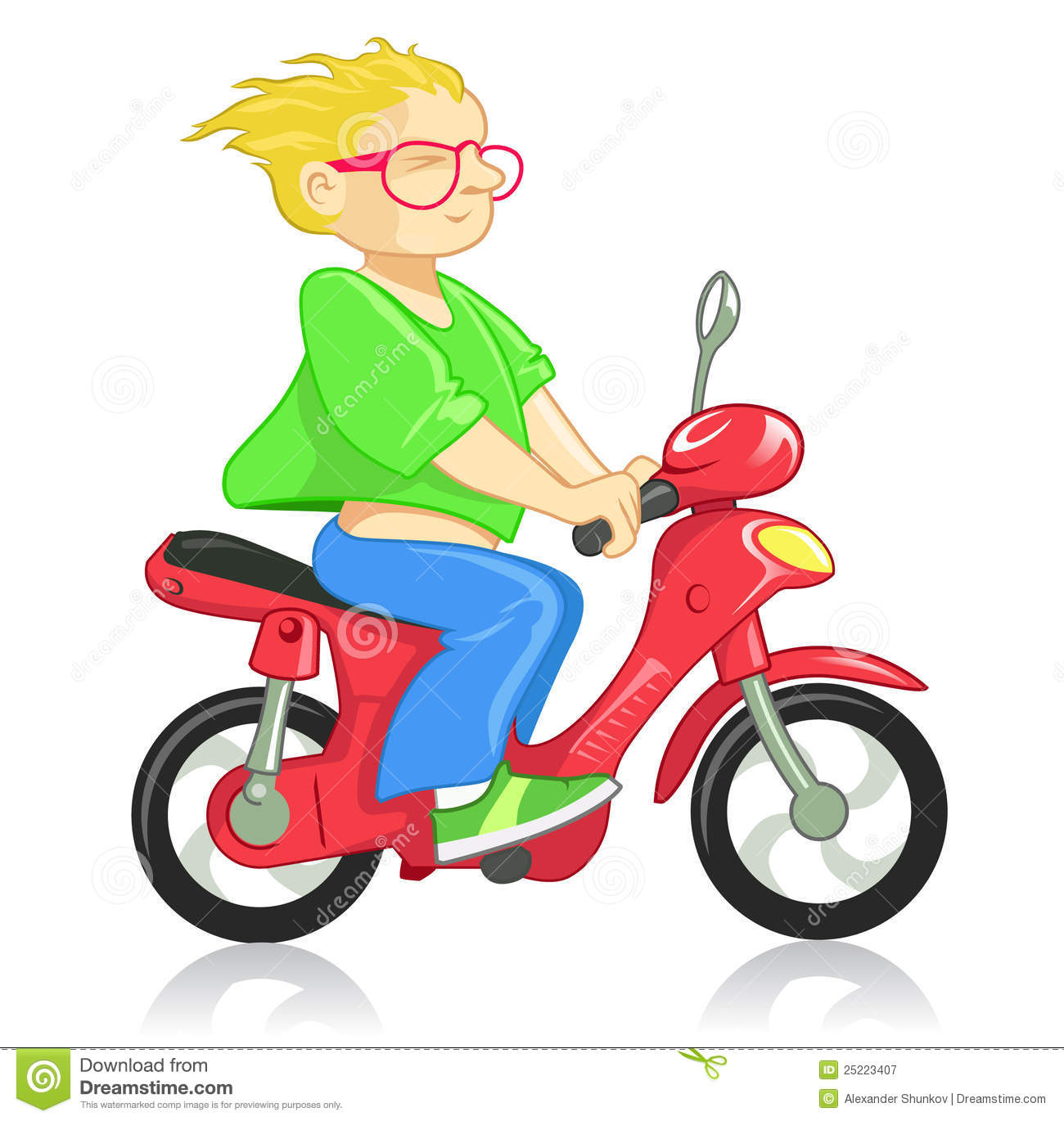 Drive Motorcycle Royalty Free Stock Photography.