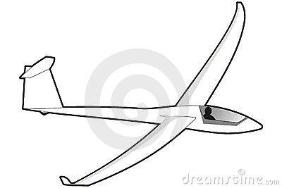 Cartoon Glider Stock Illustration.