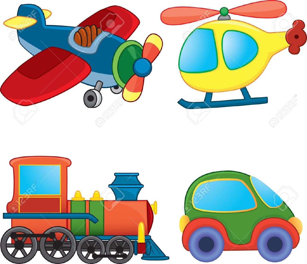 Transport Toys. Royalty Free Cliparts, Vectors, And Stock.