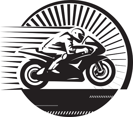 Motorcycle Racing Clip Art, Vector Images & Illustrations.