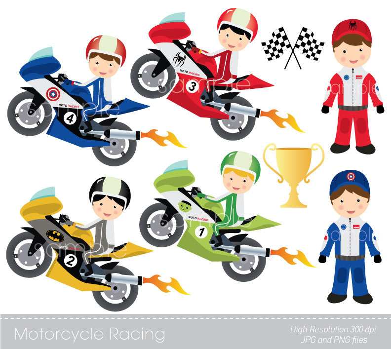 Motorcycle Racing Clipart Clipground