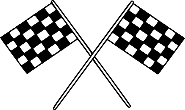 Motor Racing Flags clip art Free vector in Open office drawing svg.