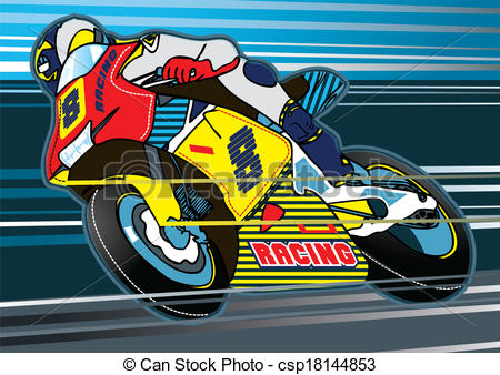 Motorbike racing Illustrations and Clipart. 5,731 Motorbike racing.