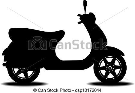 EPS Vektor von motorroller, silhouette.