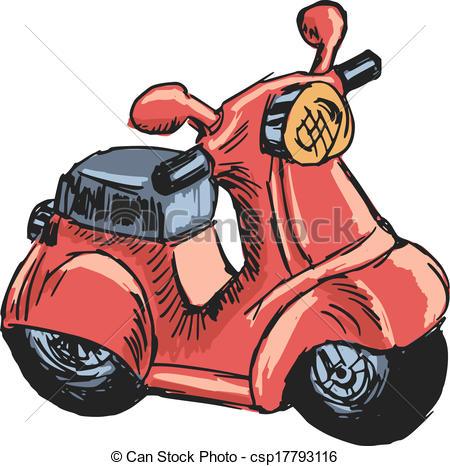 Vektor Clip Art von motorroller, spielzeug.