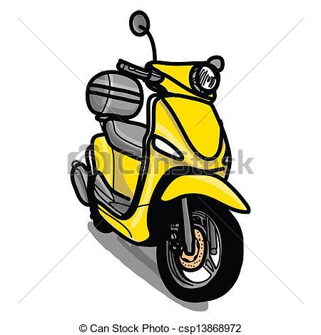 Vektoren Illustration von gezeichnet, motorroller,.