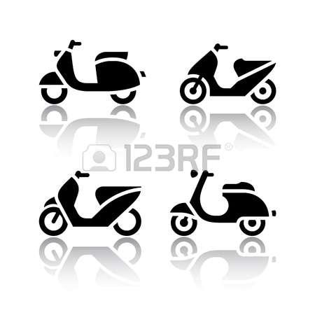 7,781 Motor Scooter Stock Vector Illustration And Royalty Free.