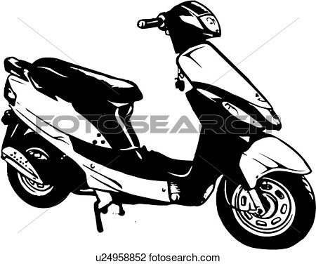 Motor Scooter Clipart.