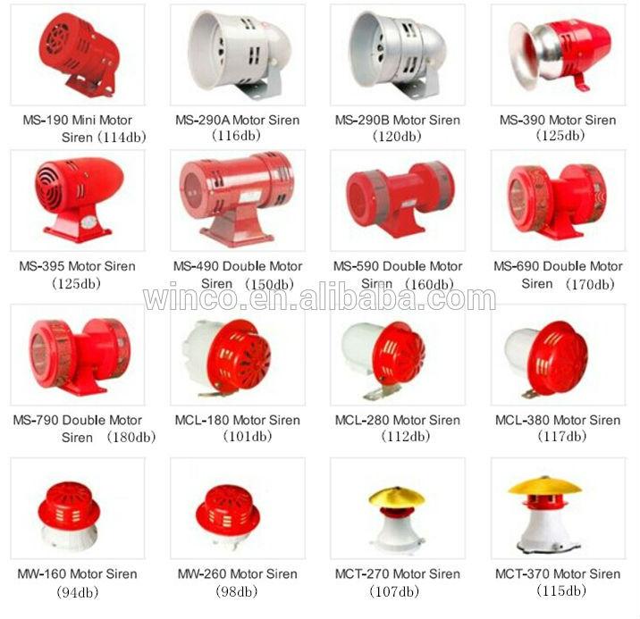 Electric Mini Motor Siren Ms.