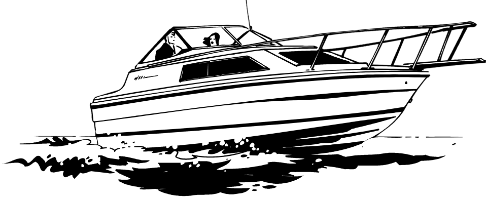 Motor boat clipart no background.