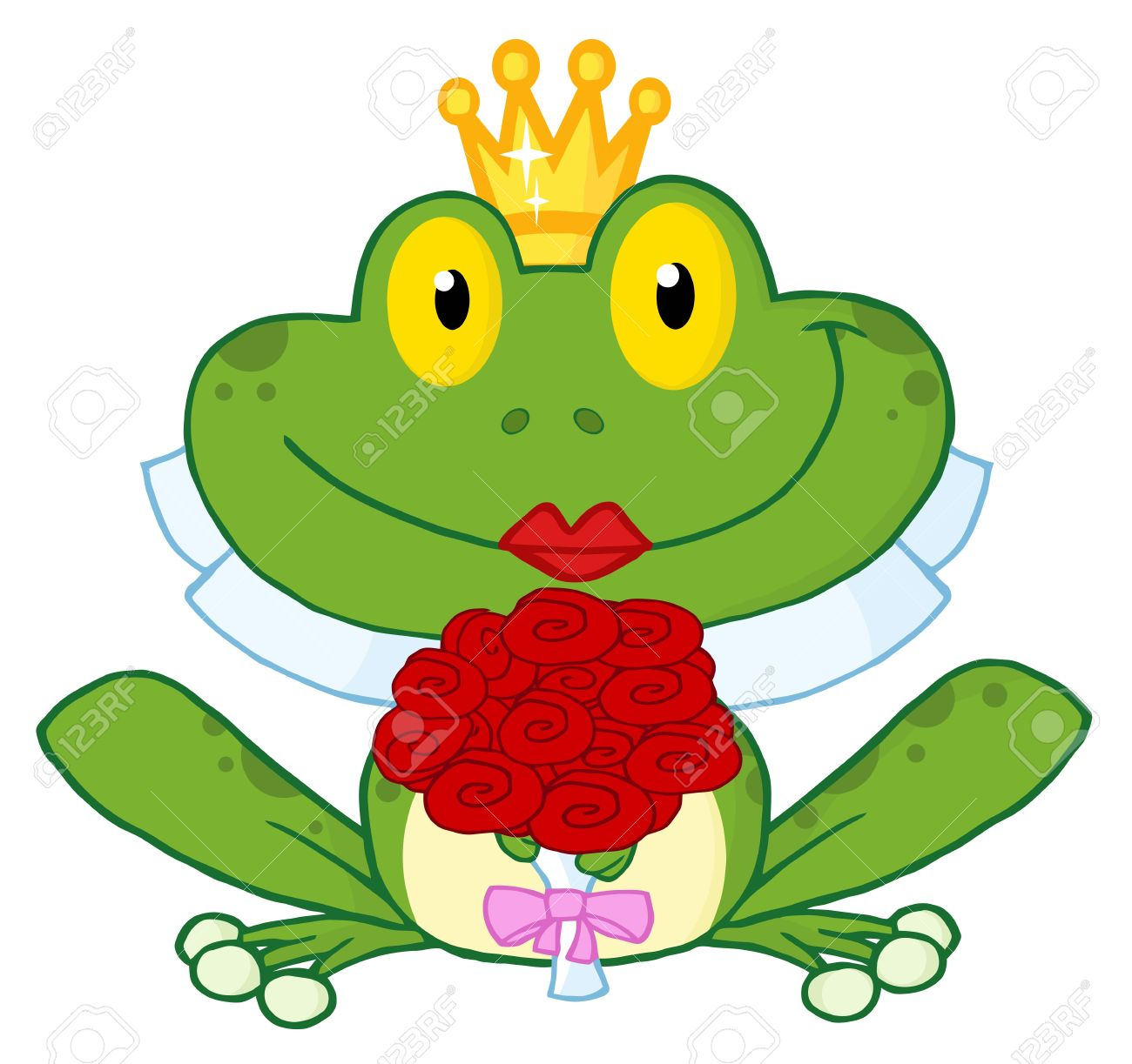 Showing post & media for Girl and frog cartoon.