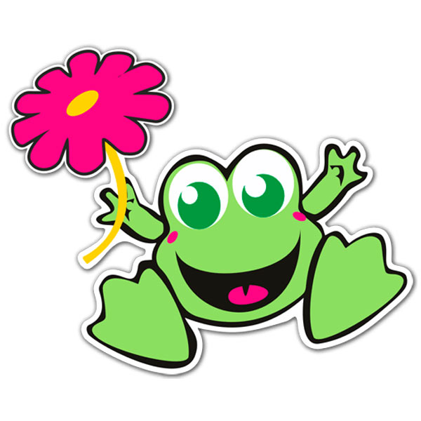 Car and Motorbike Stickers Frog 1.