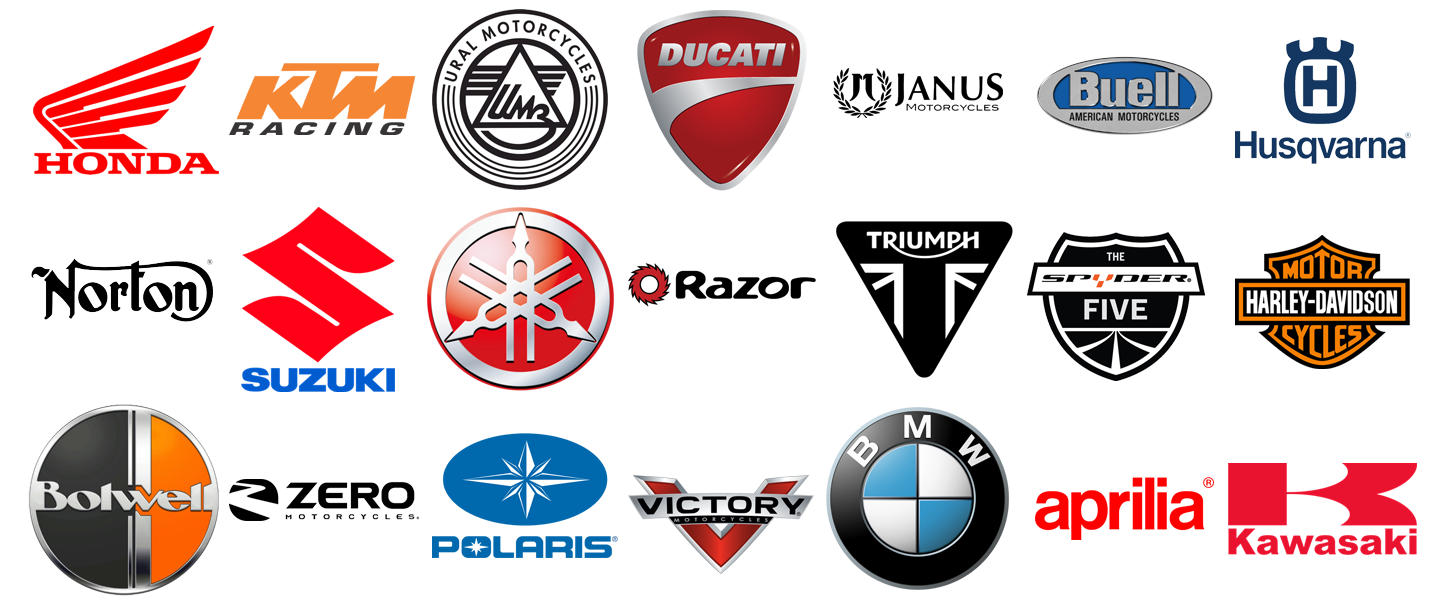 Motorcycle brands and Logos, motorbike logos.