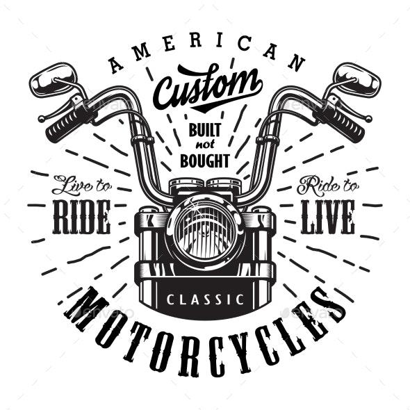 Vintage Motorcycle Logo Template.
