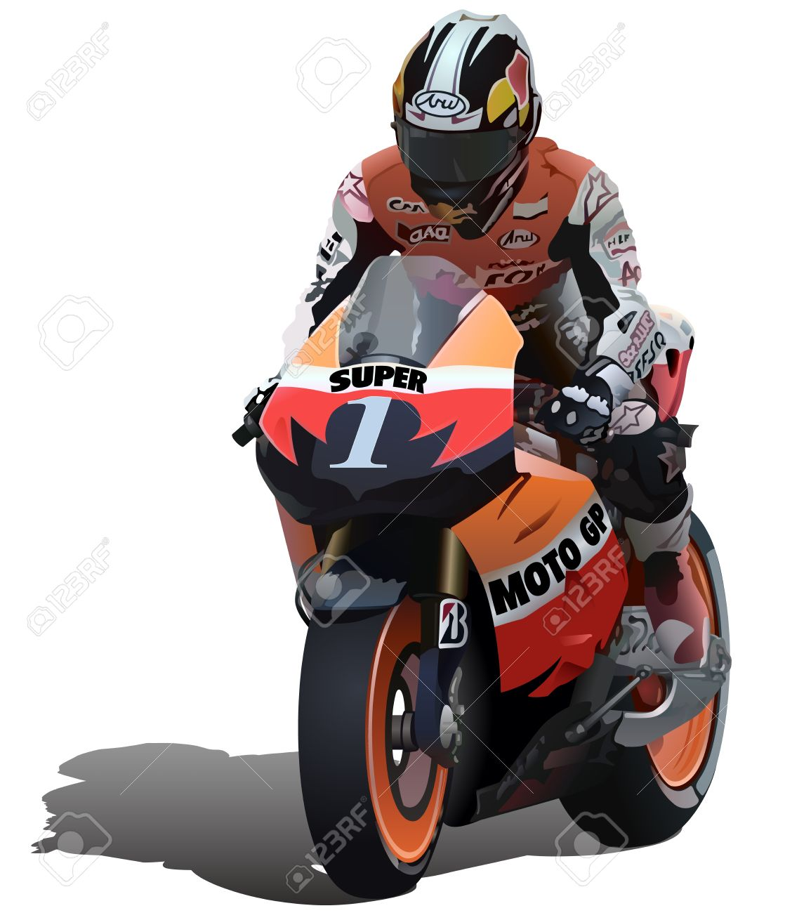 Racing motorcycle clipart - Clipground