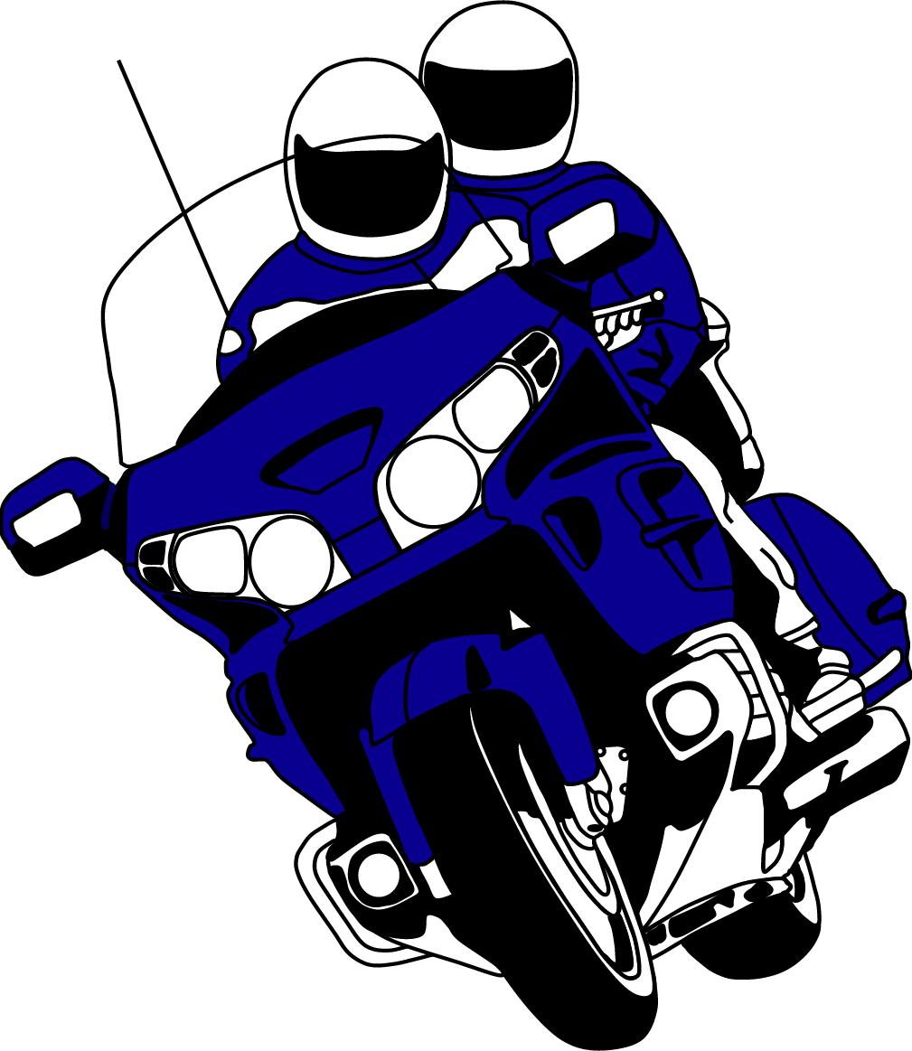 Motorcycle rider clipart.