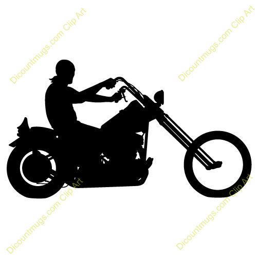 Motorcycle Rider Clipart Free.