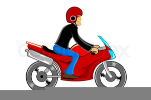 Clipart Motorbike Rider.