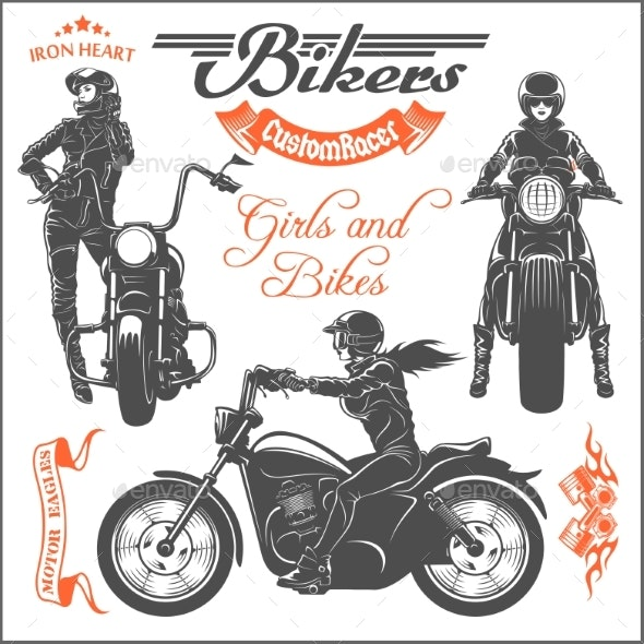 Girls Ride a Motorbike.
