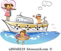 Motorboats Clipart and Stock Illustrations. 859 motorboats vector.