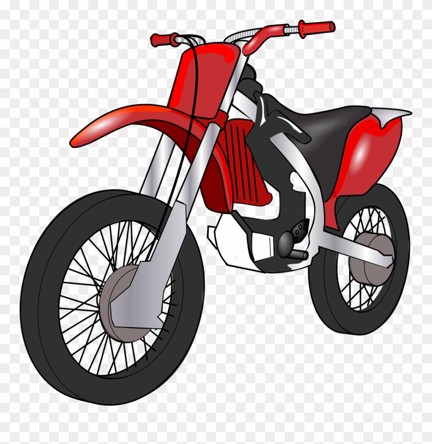 Cartoon Motorbike Clipart (#171986).