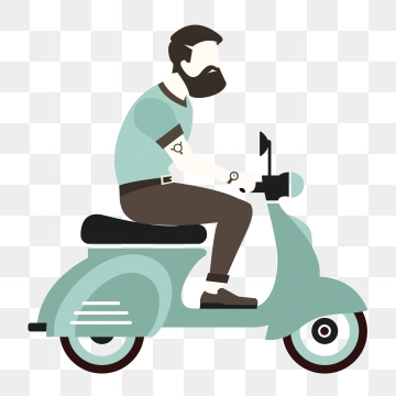 Motorcycle Cartoon PNG Images.