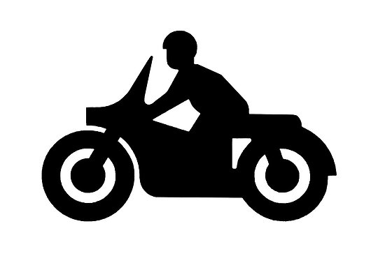 Butterfly on motorcycle clipart.
