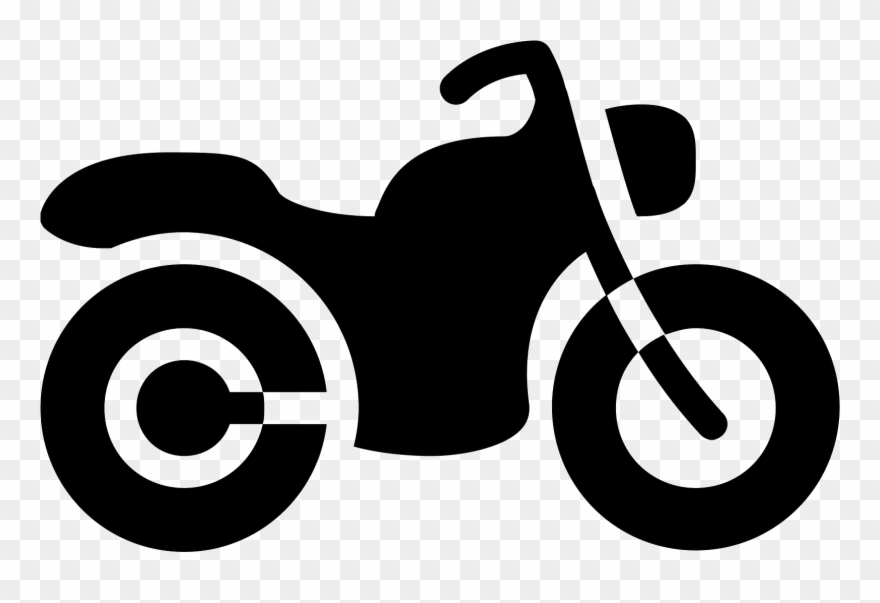 Motorcycle Filled Icon.