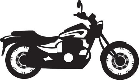 Bikers clipart vector silhouettes.